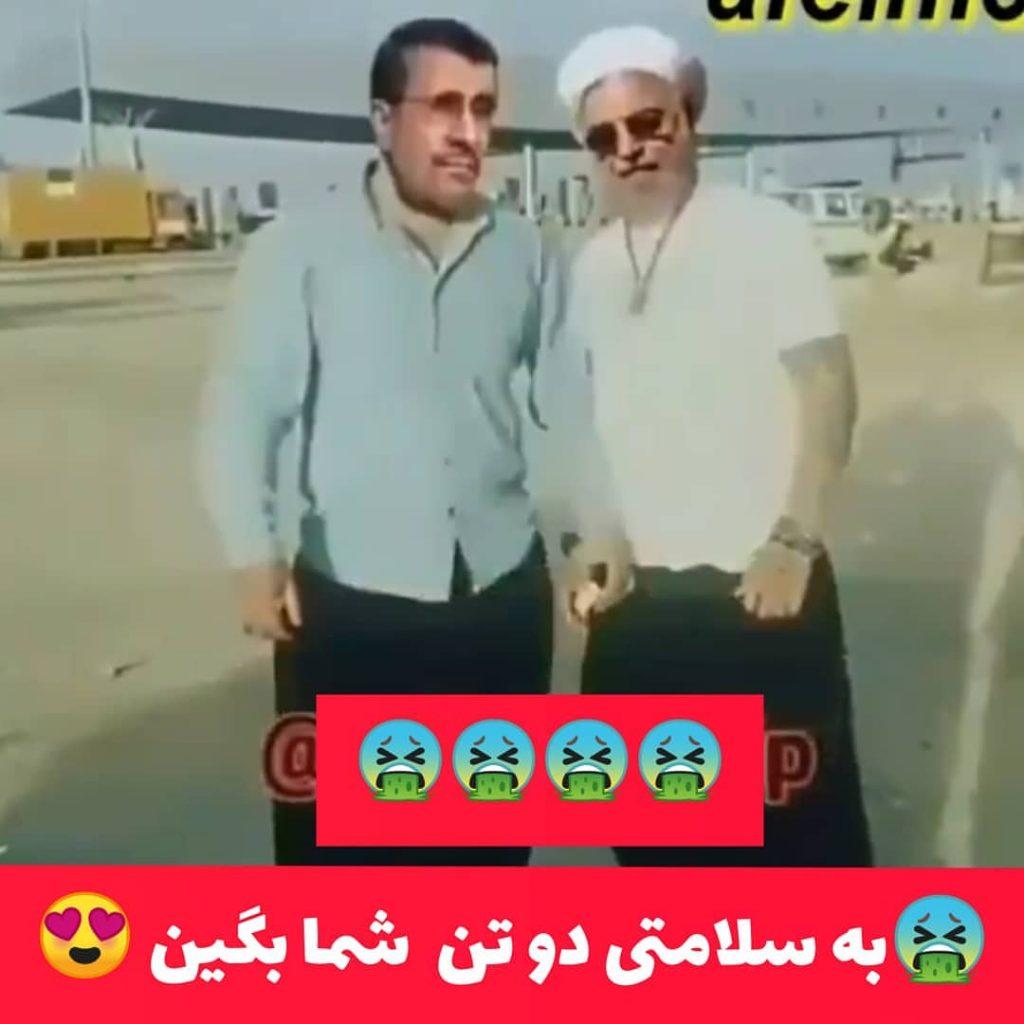 تصویر خنده دار حسن روحانی و احمدی نژاد